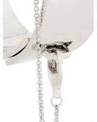 Eddie Borgo - Metallic Safety Chain Cuff Bracelet - Lyst