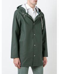 Stutterheim - Green Drawstring Hood Raincoat for Men - Lyst
