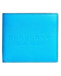 Burberry - Blue Logo Embossed International Bifold Wallet - Lyst