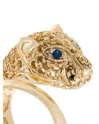 Iosselliani - Metallic 'silver Heritage' Cheetah Ring - Lyst