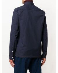 KENZO - Blue Urban Shirt With Drawstring Hem for Men - Lyst