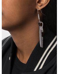 MM6 by Maison Martin Margiela - Metallic Comb Earring - Lyst