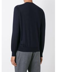 Brunello Cucinelli - Blue Classic Sweater for Men - Lyst
