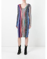 Missoni - Blue - Ribbed Knit Dress - Women - Silk/nylon/polyester/wool - 40 - Lyst