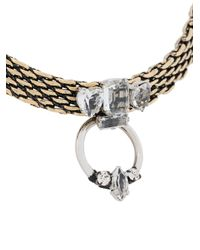 Rada' - Metallic Ring Pendant Necklace - Lyst