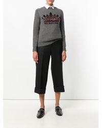 Thom Browne - Black Cropped Tailored Trousers - Lyst