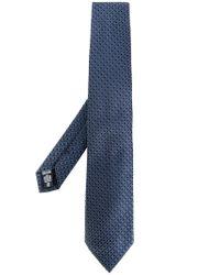 Armani - Blue Woven Jacquard Tie for Men - Lyst