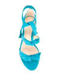 Alexandre Birman - Blue Flat 'gianna' Sandals - Lyst