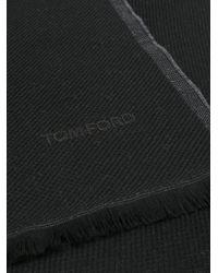 Tom Ford - Black Knit Scarf for Men - Lyst