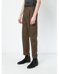Haider Ackermann - Green Slim Trousers for Men - Lyst