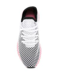 Adidas White Deerupt Running Sneakers