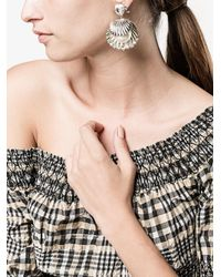 Miu Miu | Metallic Orecchini A Conchiglia Con Perle | Lyst