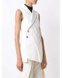 Proenza Schouler - White Asymmetric Waistcoat - Lyst