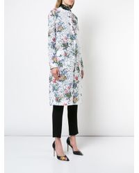Monique Lhuillier - White Floral Print Single-breasted Coat - Lyst