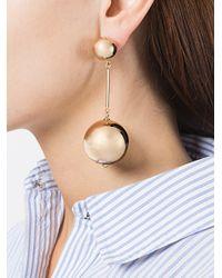 J.W. Anderson - Metallic Sphere Drop Earrings - Lyst