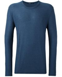 T By Alexander Wang - Blue Round Neck T-shirt for Men - Lyst