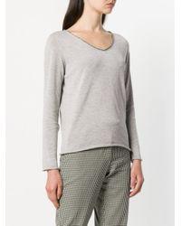 Fabiana Filippi - Gray V-neck Sweater - Lyst