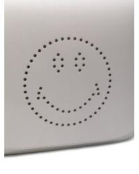 Anya Hindmarch - Gray Punch Hole Shoulder Bag - Lyst