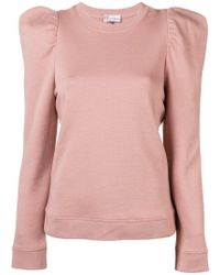 RED Valentino - Pink Neck-tied Fitted Sweater - Lyst