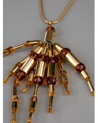 Paco Rabanne - Metallic Cluster Necklace - Lyst