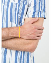 Luis Morais - Multicolor 14kt Gold Stripe Beaded Bracelet for Men - Lyst