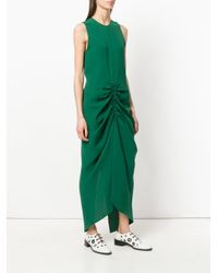 Joseph - Green Sleeveless Ruched Dress - Lyst
