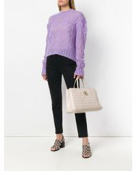 Versace Jeans - Pink Woven Tote - Lyst
