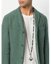 Tagliatore - Blue Beaded Pendant Necklace for Men - Lyst
