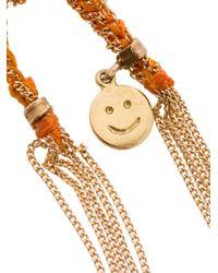 Carolina Bucci - Metallic Smiley Lucky Bracelet - Lyst