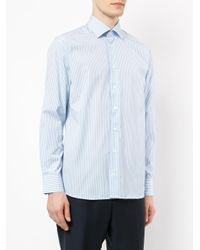 Hardy Amies - Blue Striped Shirt for Men - Lyst