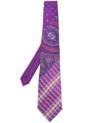 Etro | Purple Paisley Patchwork Tie for Men | Lyst