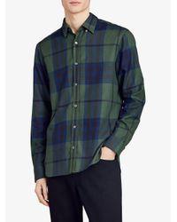 Burberry - Blue Check Shirt for Men - Lyst