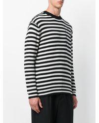 McQ Alexander McQueen - Black Striped Jumper for Men - Lyst