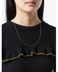 Ileana Makri - Metallic Slim Chain Necklace - Lyst