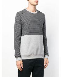 Saucony - Gray Contrast Panel Sweatshirt for Men - Lyst
