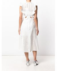 Self-Portrait - White English Embroidery Cutout Dress - Lyst