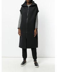 Y-3 - Black Sleeveless Zipped Coat - Lyst