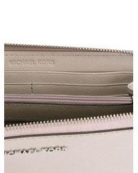 MICHAEL Michael Kors - Gray 'jet Set Travel' Continental Wallet - Lyst