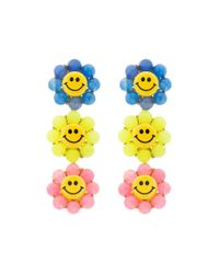 Venessa Arizaga - Multicolor Happy Flower Earrings - Lyst