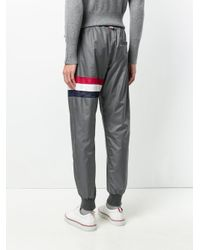 Thom Browne - Gray X Colette Stripe Track Pants for Men - Lyst
