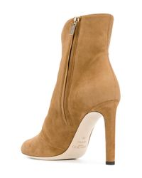 Jimmy Choo - Brown Loretta Suede Booties - Lyst