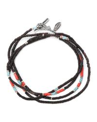 M. Cohen - Black Thin Beaded Bracelet for Men - Lyst