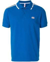 Sun 68 - Blue Logo Patch Polo Shirt for Men - Lyst