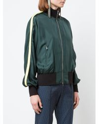 Robert Rodriguez Green Cropped Bomber Jacket