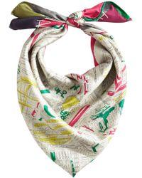 Burberry - Multicolor London Print Scarf - Lyst