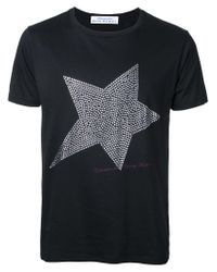 Education From Youngmachines - Black Studded Star T-shirt for Men - Lyst