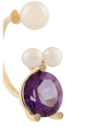 Delfina Delettrez - Metallic 'magic Triangle Pearl Piercing' Diamond Ring - Lyst