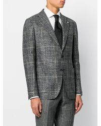 Tagliatore - Gray Prince Of Wales Suit for Men - Lyst