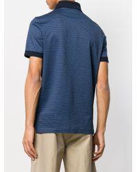 Ferragamo - Blue Striped Polo Shirt for Men - Lyst