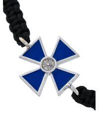 Gemco - Black Maltese Cross Rope Bracelet for Men - Lyst